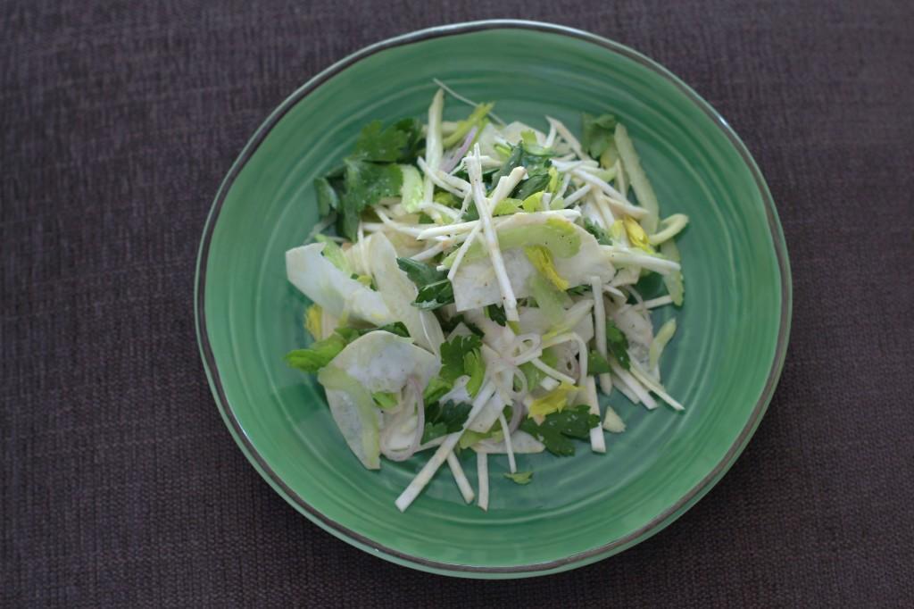 celery and celery root salad www.girlontherange.com