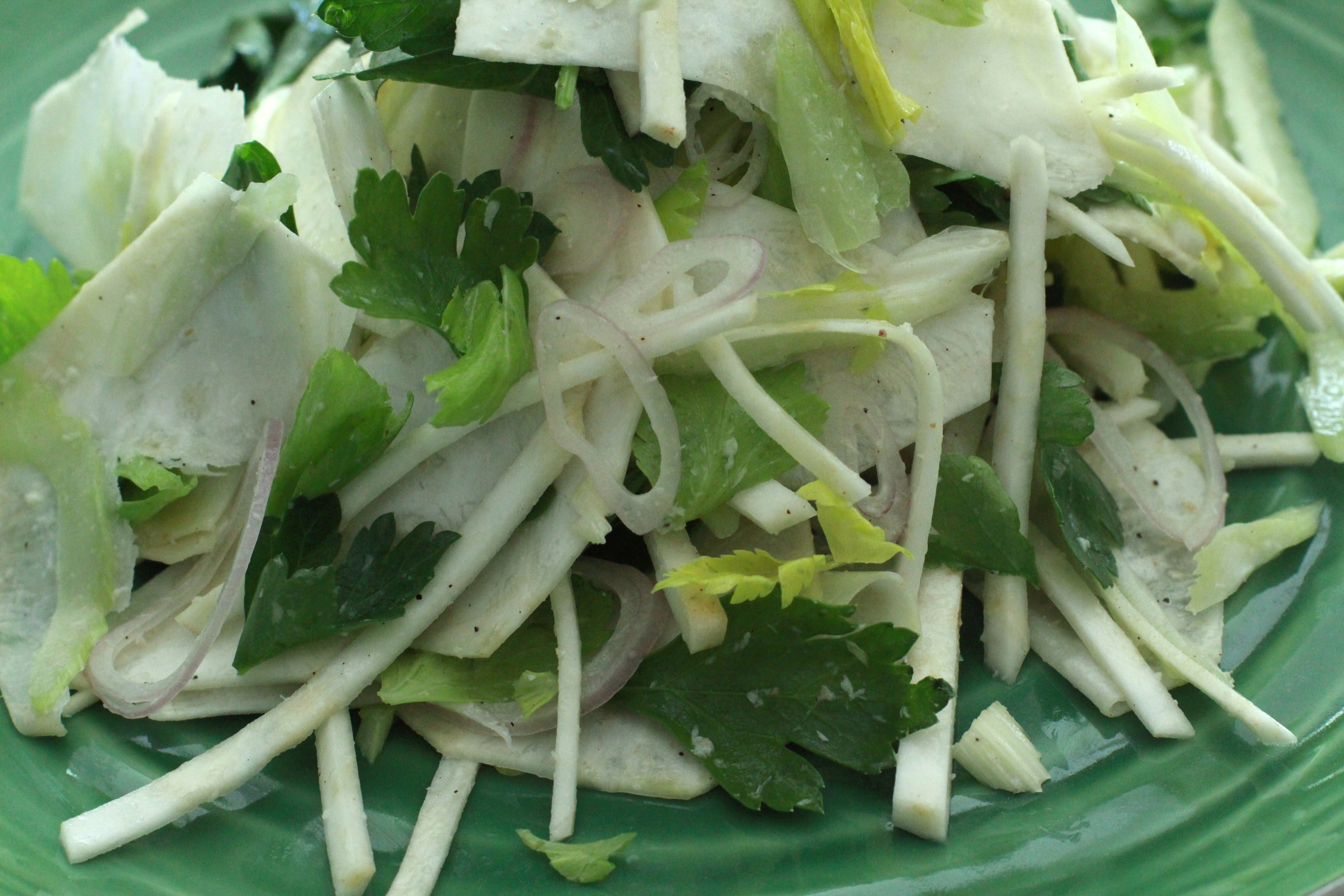 the sound of one hand chopping - celery root salad - Girl on the Range