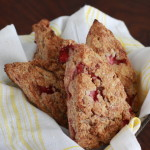 whole wheat strawberry and ricotta scones