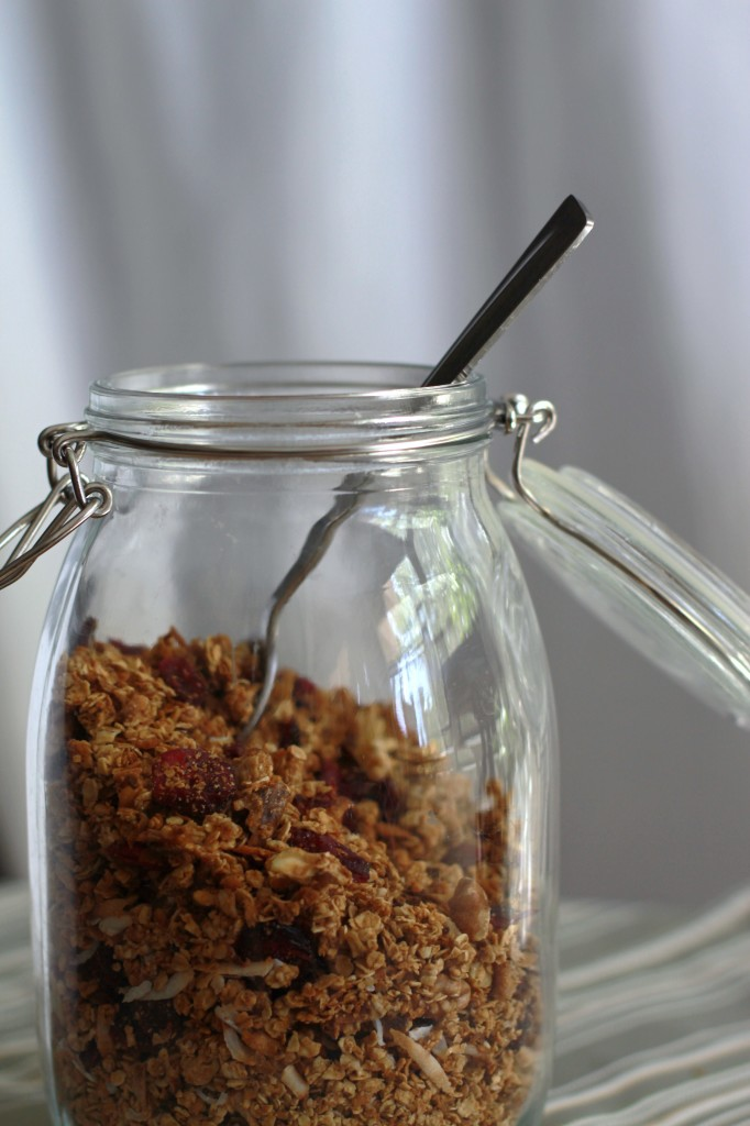 deb perlman's maple granola jar www.girlontherange.com