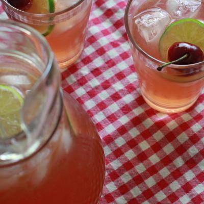 sparkling cherry limeade