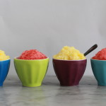 mango and strawberry granita