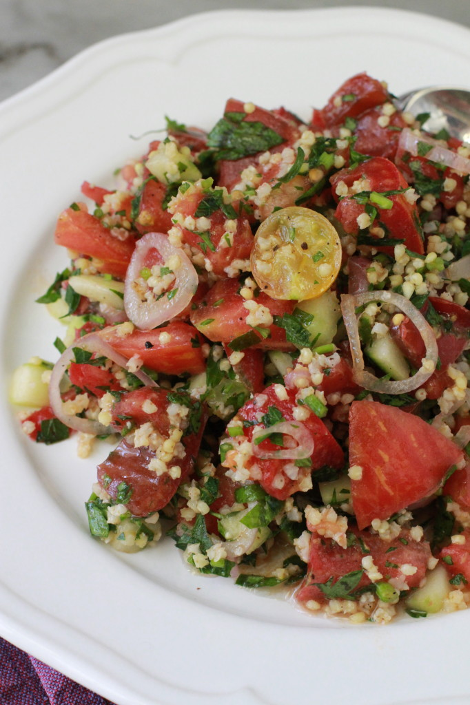 heirloom tomato and millet tabouleh www.girlontherange.com