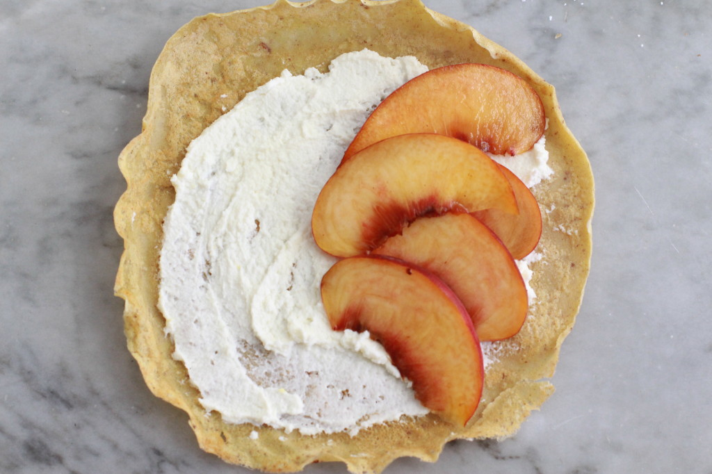 cinnamon crepes with peaches and cream www.girlontherange.com
