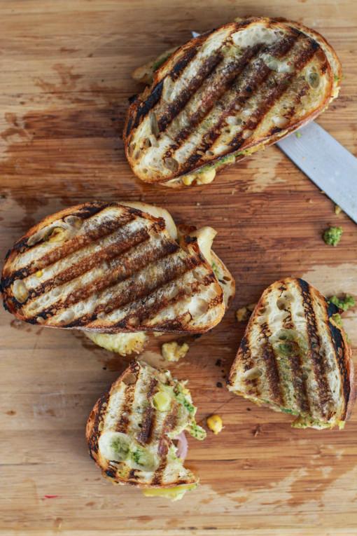 broccoli and pesto panini www.girlontherange.com