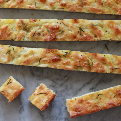 rosemary and sea salt focaccia