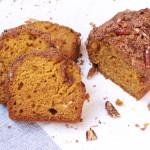 pumpkin bread with pecan streusel