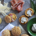 savory whole wheat pumpkin biscuits with sage-parsley butter