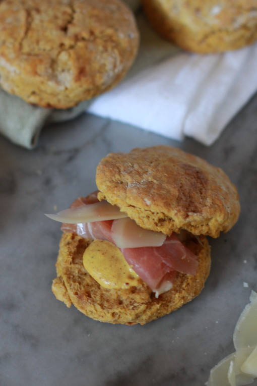 savory whole wheat pumpkin biscuits www.girlontherange.com