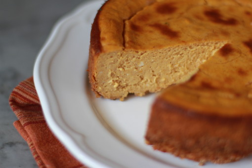 pumpkin cheesecake www.girlontherange.com