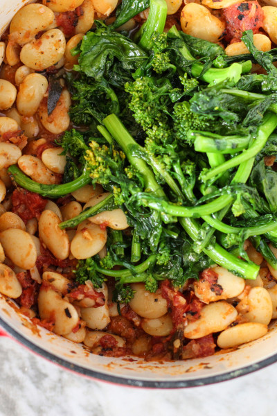 butter beans with broccoli rabe  www.girlontherange.com