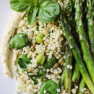 grilled asparagus and grains salad  www.girlontherange.com