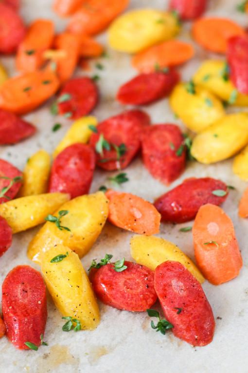 rainbow carrots www.girlontherange.com