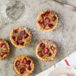 strawberry and rhubarb tartlets