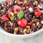 sweet bing cherry and black rice salad