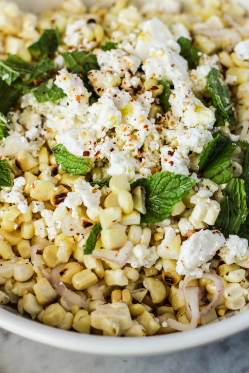 grilled corn salad www.girlontherange.com