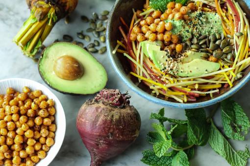 winter vegetable salad www.girlontherange.com