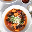 black bean and sweet potato stew  www.girlontherange.com