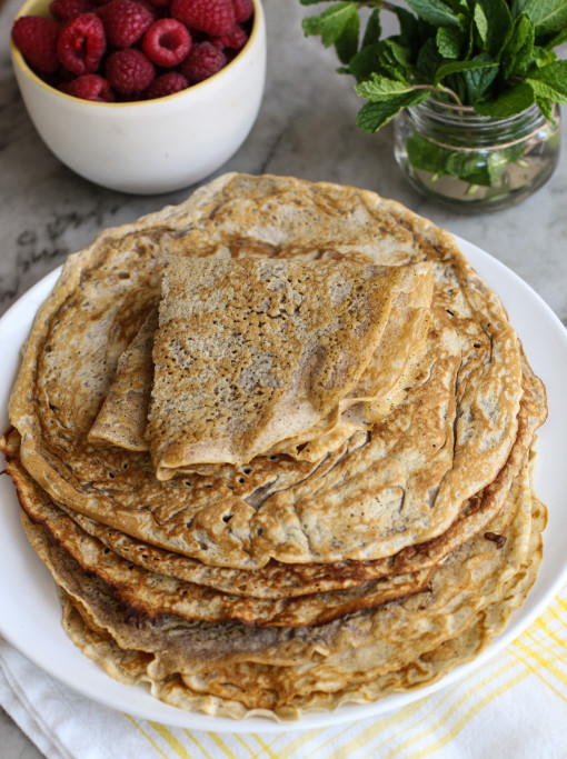 whole wheat crepes www.girlontherange.com