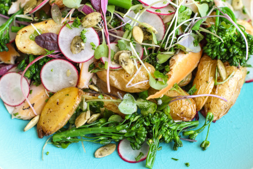 trout and fingerling potato salad 2 www.girlontherange.com_edited