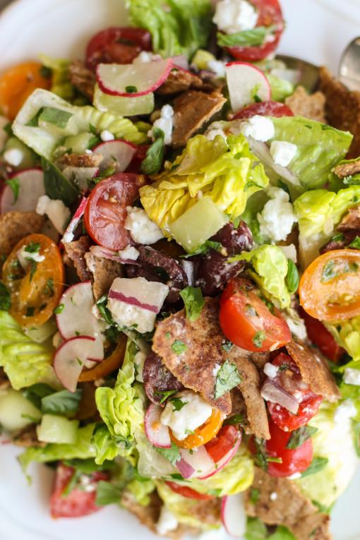 pita fattoush salad www.girlontherange.com