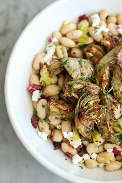 white bean and crispy artichokes www.girlontherange.com