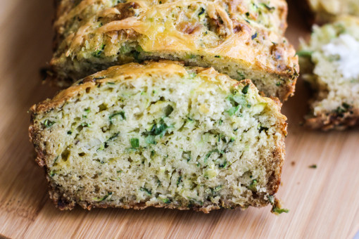 zucchini scallion bread www.girlontherange.com