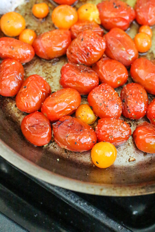 pan cooked tomatoes www.girlontherange.com