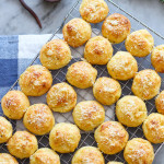 pumpkin gougeres with rosemary and sea salt