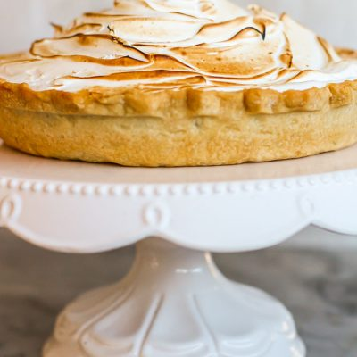 classic pumpkin pie with mile-high meringue