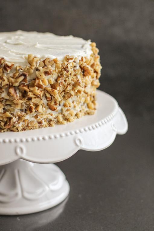 spice cake walnut crust www.girlontherange.com
