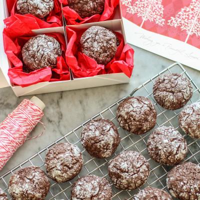 dark chocolate crinkle cookies and the great food blogger cookie swap