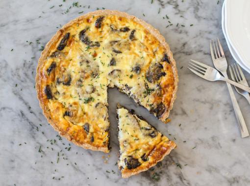 mushroom tart piece www.girlontherange.com