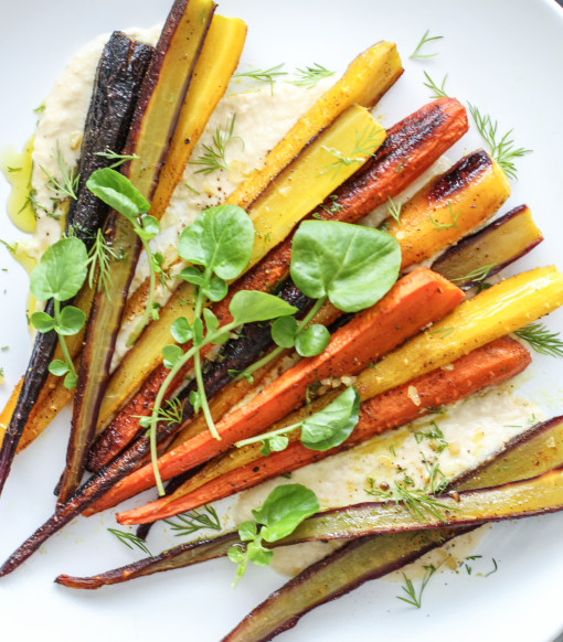 carrots roasted www.girlontherange.com