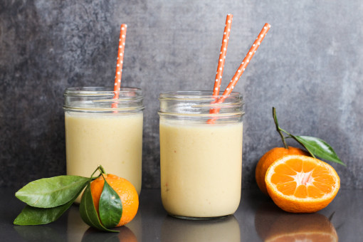 honey tangerine smoothie two www.girlontherange.com