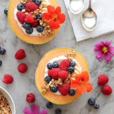 cantaloupe breakfast bowls