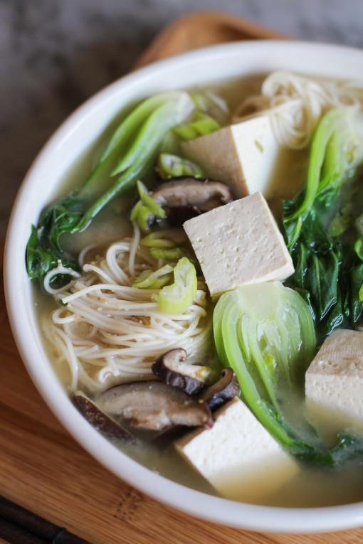 miso noodle soup half bowl www.girlontherange.com