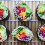 quinoa and vegetable sushi