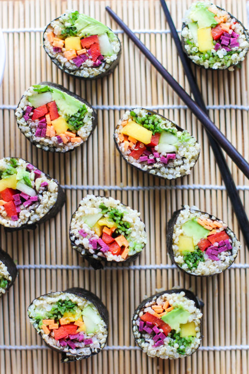 quinoa and vegetable sushi
