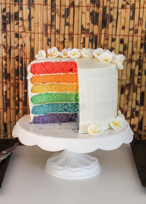 rainbow cake cut www.girlontherange.com