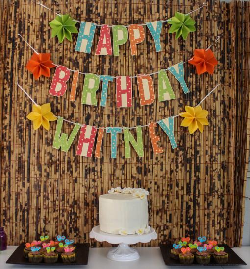 rainbow cake table www.girlontherange.com