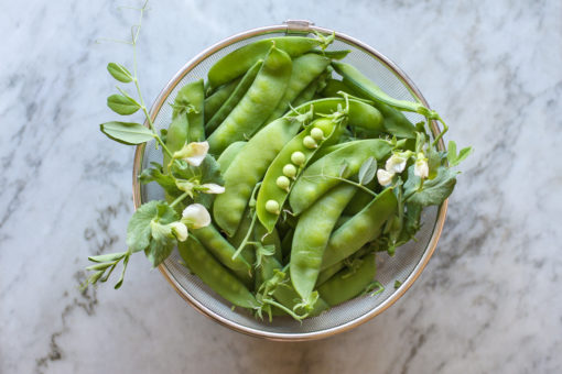 snap peas - snap pea, radish and quinoa salad