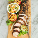 spice rubbed pork tenderloin with peach salsa