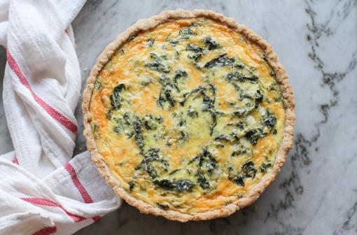 swiss chard and cheddar tart www.girlontherange.com