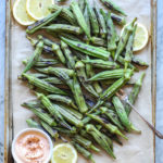 grilled okra with chipotle dipping sauce