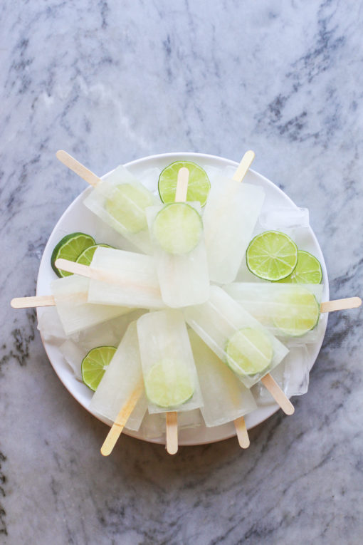 freshly squeezed limeade popsicles
