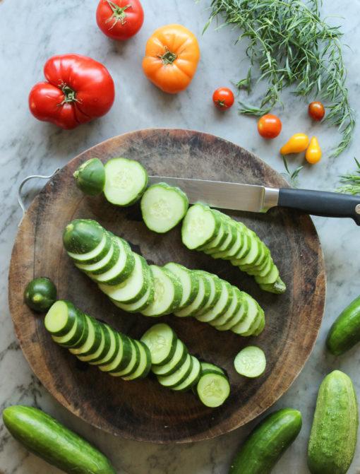 tomato gazpacho - cucumbers