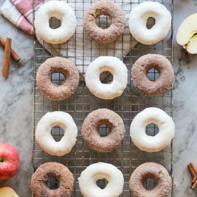 baked apple cinnamon donuts