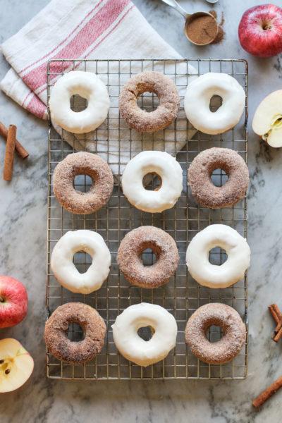 baked apple cinnamon donuts
