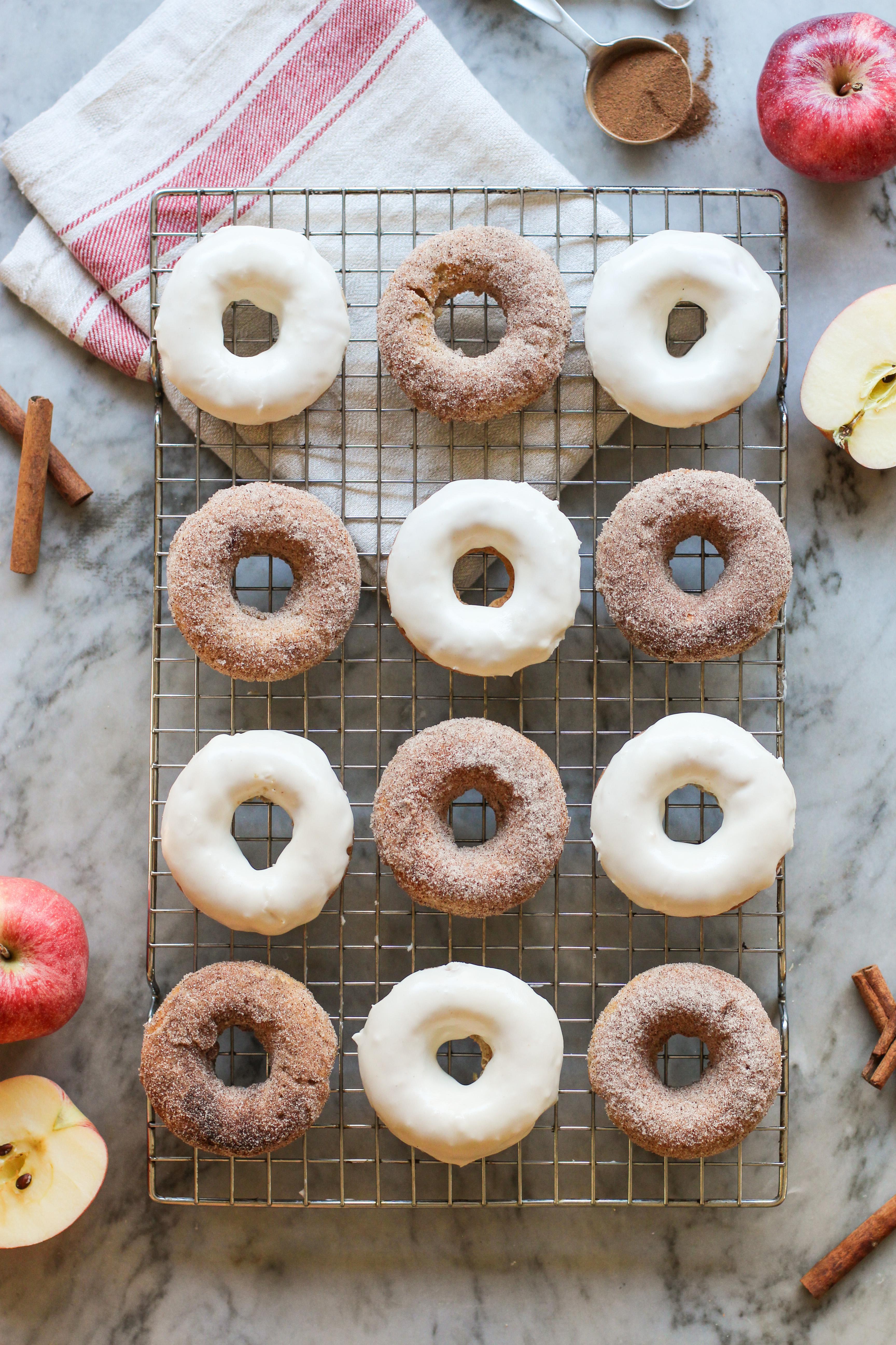 Baked Apple Cinnamon Donuts Girl On The Range